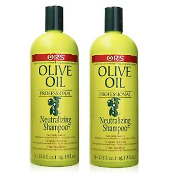 Organic Root Stimulator Olive Oil Neutralizing Shampoo 1 Litre (2-Pack)