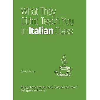 Wat ze je niet leren in Italiaanse klasse: Slang zinnen voor Cafe, Club, Bar, slaapkamer, balspel en meer