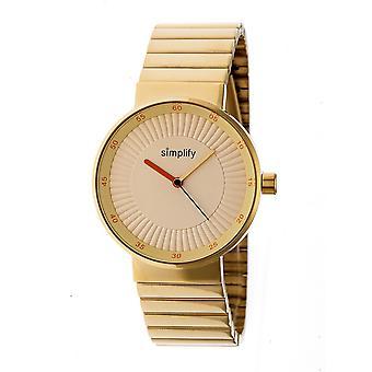 Simplify The 4600 Bracelet Watch - Gold/Orange