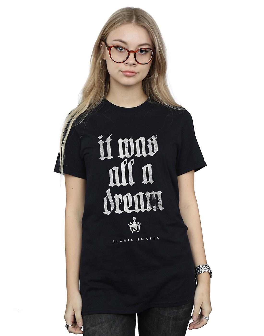 Notorious BIG Women's Dream Old English Text Boyfriend Fit T-Shirt