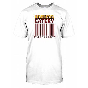 Kod kreskowy bezużyteczne Eatery - spisek męskie T Shirt