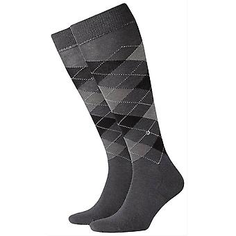Burlington Manchester Knee High chaussettes - Anthracite/noir