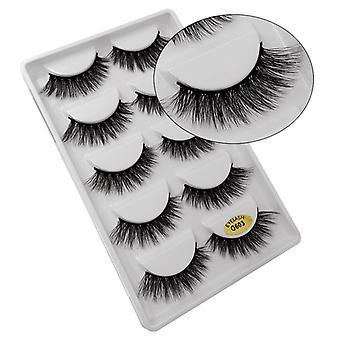5-pair false eyelashes-3D faux mink-G603