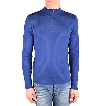 Gazzarrini Ezbc204010 Men's Blue Cotton Sweater
