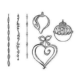 Spellbinders Dangling Ornaments Cling Stamp (SBS-164)