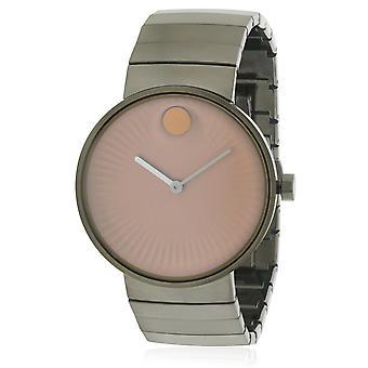 Movado kant grå rostfria Mens Watch 3680023