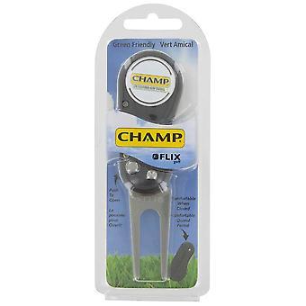 Champ Flix zusammenklappbare Switchblade Divot Reparatur-Tool und Kugel Marker