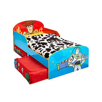 Toy Story 4 Toddler Bed with Storage Plus Fully Sprung Mattress