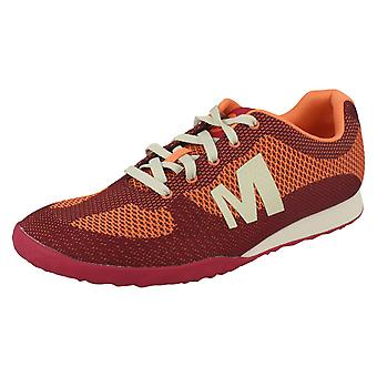 Ladies Merrell Lace Up Trainers Civet