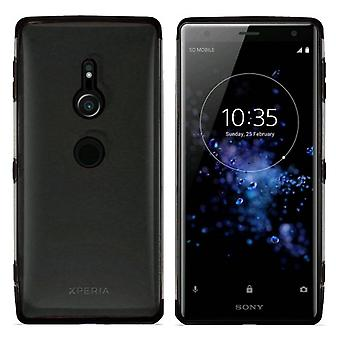 Sony XZ2 Compact Bumper Case Black - Backcover Clear