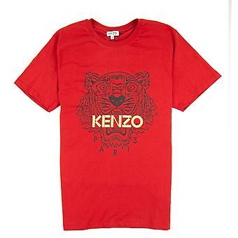 Kenzo glitter Tiger T-shirt rood