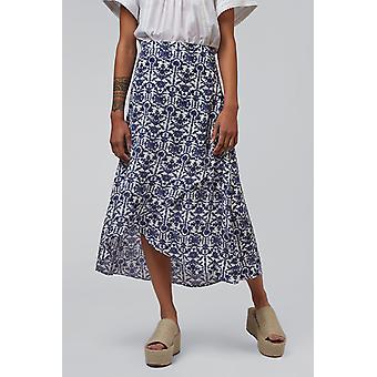 Louche Safir Porcelain Overlap Skirt White