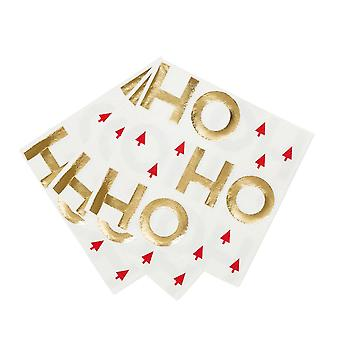 Ho Ho Ho Christmas Paper Party Napkins x 16