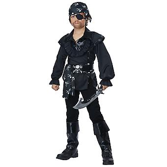 Skull Island Pirate Buccaneer Captain Carribbean Book Week Child Boys Costume