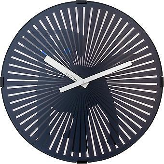 Nextime-vægur-Ø 30 cm – plastik – bevægelses ur – sort – ' hund '