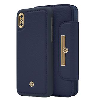 Marvêlle iPhone X/Xs Magnetic Case & Wallet Blue Chic