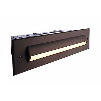 LED väggmonterad vägglampa vägg linje II 3.4 W 3000K 255x76mm svart IP65