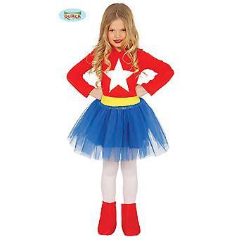 Kızlar Karnaval Eylem Heroine Powerwoman için Guirca Superheroine Kostüm