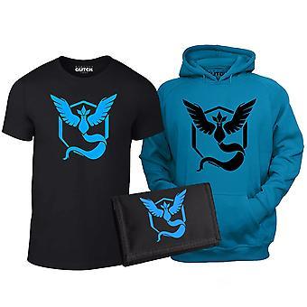 Kid ' s Team Mystic t-paita, huppari & lompakko sarja