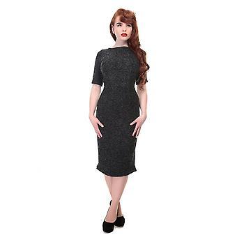 Collectif Vintage vrouwen ' s Mena Sparkle Tweed potlood jurk
