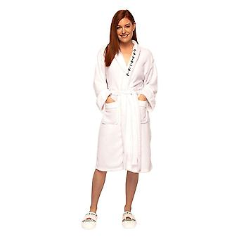 Women's Friends Central Perk White Fleece Dressing Gown