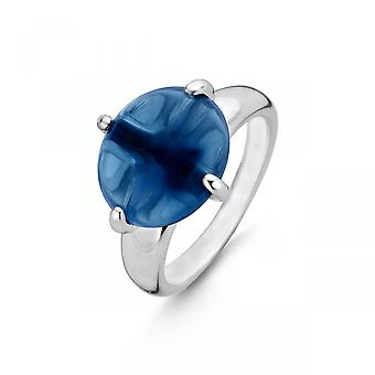 Ring ti Sento Indigo intryck 12117DB-Silver Ring blå sten darks Claw Woman