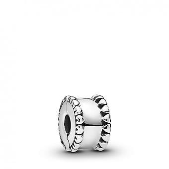 Charms Pandora 798560C00-silver pärla hjärtan Clip