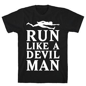 Courir comme un t-shirt diable