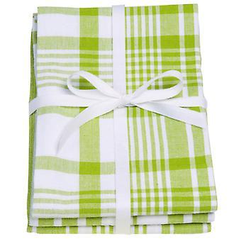 Love fargen sett med 3 kjøkkenhåndklær, grønne