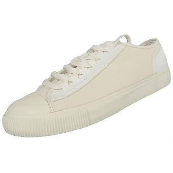 G-Star Lace Up White Canvas Milk White Trainers