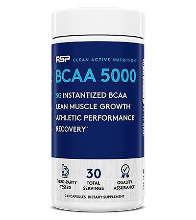 Rsp bcaa 5000, lean muscle growth, endurance, muscle recovery, bcaa capsules (240 capsules, 30 servings)