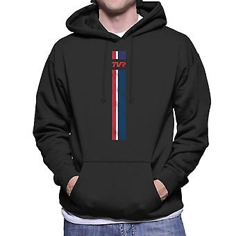 TVR Logo Stripes Men's Hooded Sweatshirt