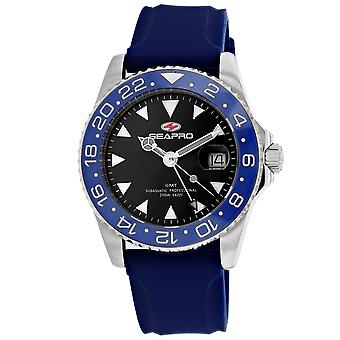 Seapro Men-apos;s Black Dial Watch - SP0122BL