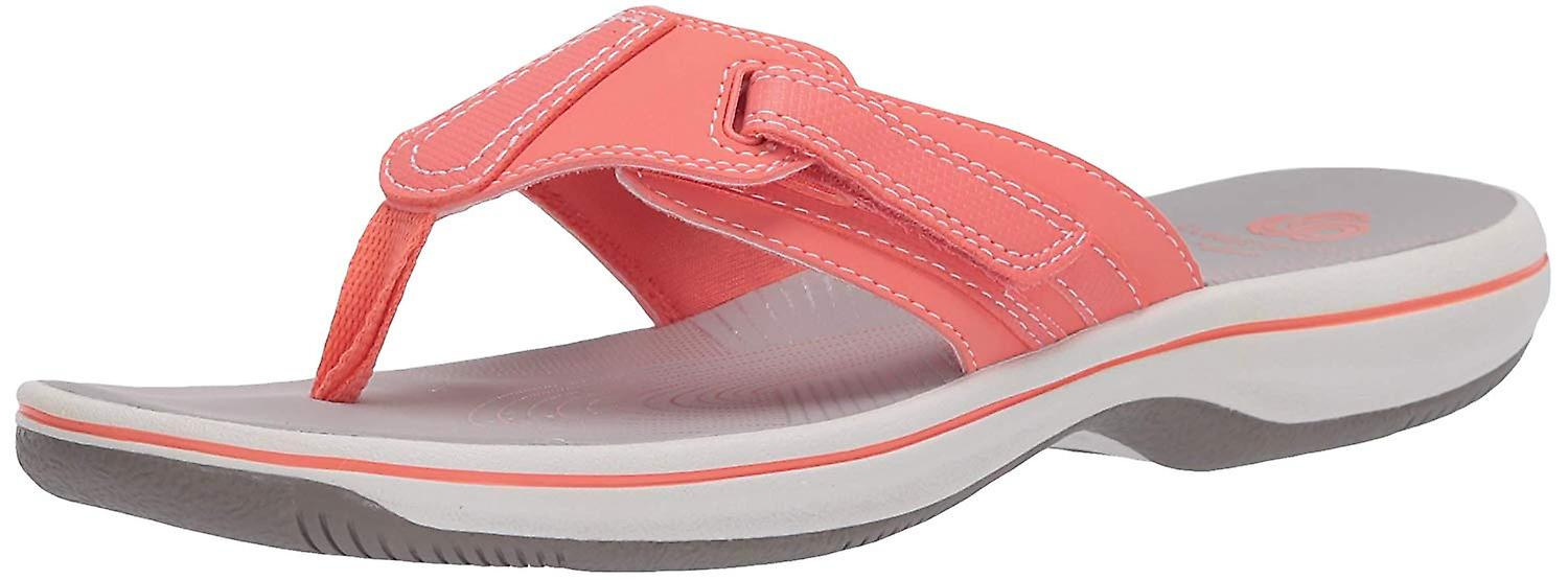 CLARKS Kobiety's Brinkley Sail Flip-Flop, Coral Synthetic, 50 M US FiH7o