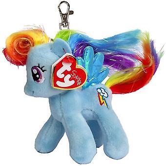 TY My Little Pony Clip Rainbow Dash Unicorn Nyckelring Gosedjur 11cm