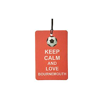 Keep Calm And Love Bournemouth Car Air Freshener