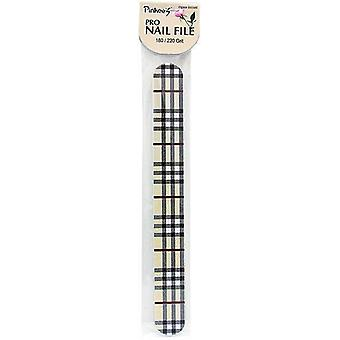New York NailCare PinkeeS Pro Nail File 17cm Long 180 / 220 Grit