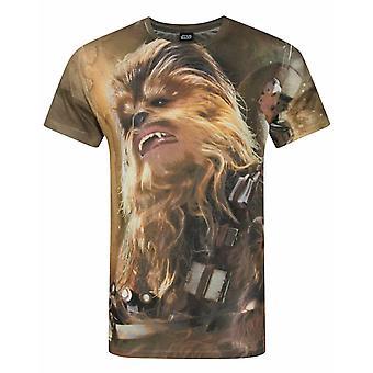 スターウォーズフォースの覚醒チューバッカ昇華メン&アポ;s Tシャツ