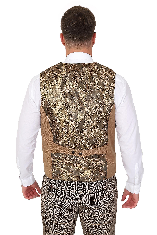 Marc Darcy Kelly Tan Plain Waistcoat