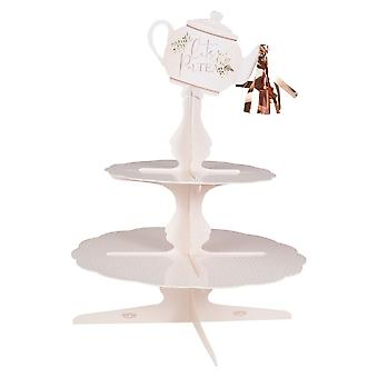 Rose Gold 2 Tiered Afternoon Tea Cake Stand Laat Partea Alice Tea Party