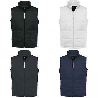 B&C Mens Full Zip Waterproof Bodywarmer/Gilet