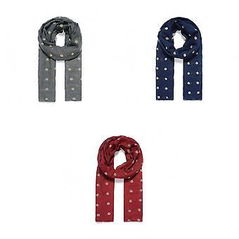 Intrige dames/dames dot geborduurde sjaal