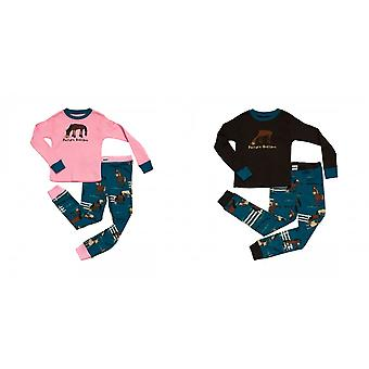 LazyOne Childrens/Kids Pasture Bedtime Long Sleeved Pyjama Set
