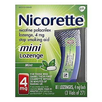 Nicorette mini lozenges, 4 mg, mint, 81 ea