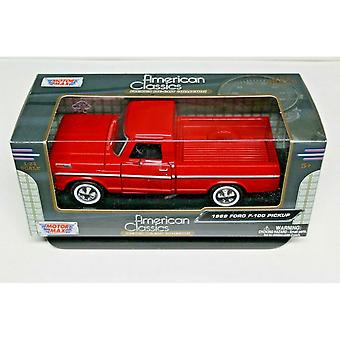 MotorMax American Classics - 1969 Ford F-100 Pickup Red   1:24
