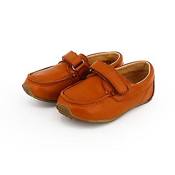 SKEANIE Toddler and Kids Leather Deck Shoes in Tan