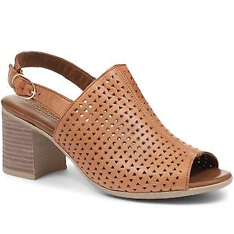 Carmela Block Heeled Leather Mules