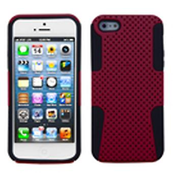 Asmyna Astronoot Phone Protector Case for Apple iPhone 5s/5 - Red/Black