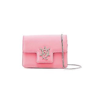 Alexander Mcqueen Ezcr015001 Women's Pink Leather Shoulder Bag