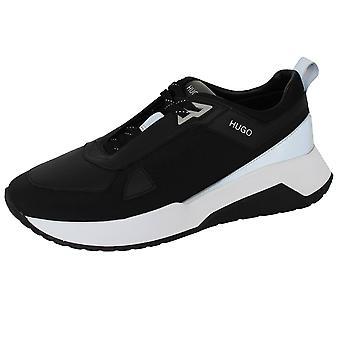 Hugo boss atom runn men's black trainers